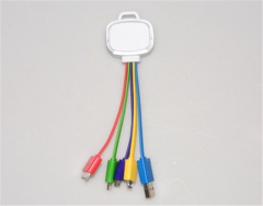 Multicolors LED Charging cable 4in1