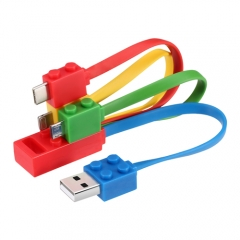 New Latest Charging cable colorful Lego design